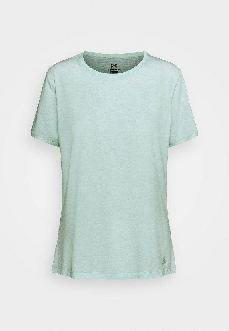 Salomon - ESSENTIAL SHORT SLEEVE TEE - T-shirt basic - opal blue