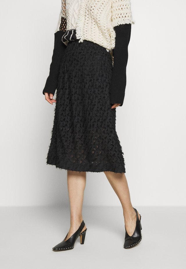 FUMI SKIRT - A-lijn rok - black