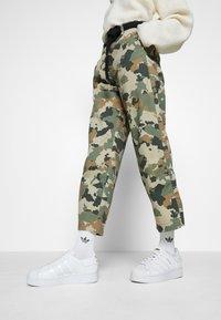 adidas Originals - SUPERSTAR BOLD - Trainers - footwear white/gold metallic - 0