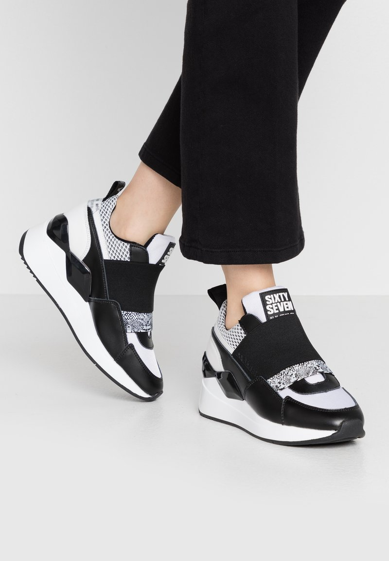 Sixtyseven - WASEDA - Slip-ons - actled black/white