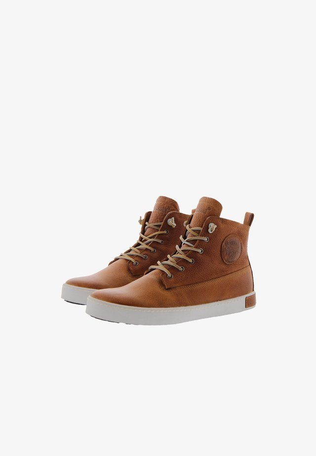 Sneakers alte - cognac