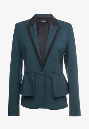 TAILORED JACKET  PEPLUM - Blazer - deep teal