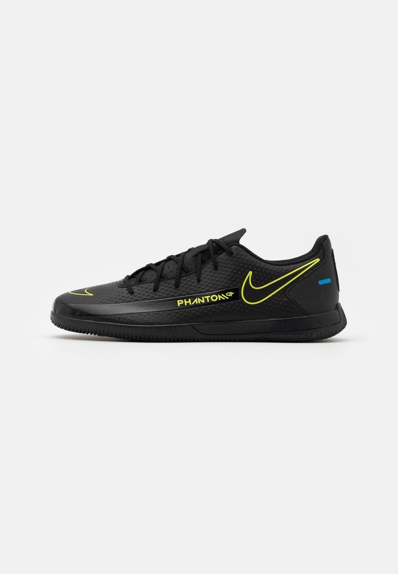 Nike Performance - PHANTOM GT CLUB IC - Indoor football boots - black/cyber/light photo blue