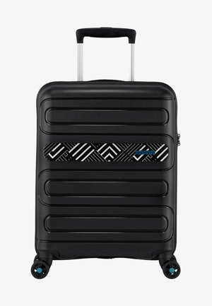 SUNSIDE - Wheeled suitcase - mottled black