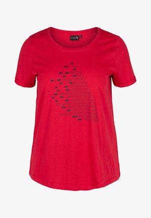 T-shirt print - haute red