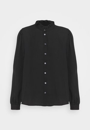 POET COLLAR BUTTON UP GEORGETTE - Košile - black