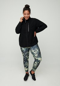 Active by Zizzi - Zip-up hoodie - black - 1