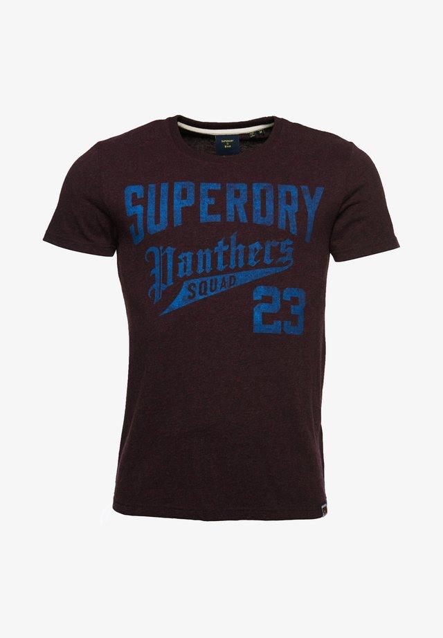 Print T-shirt - autumn blackberry marl