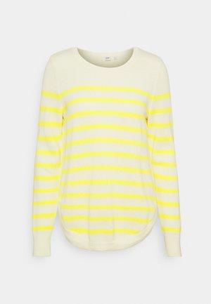 CURVE HEM CREW - Jumper - yellow