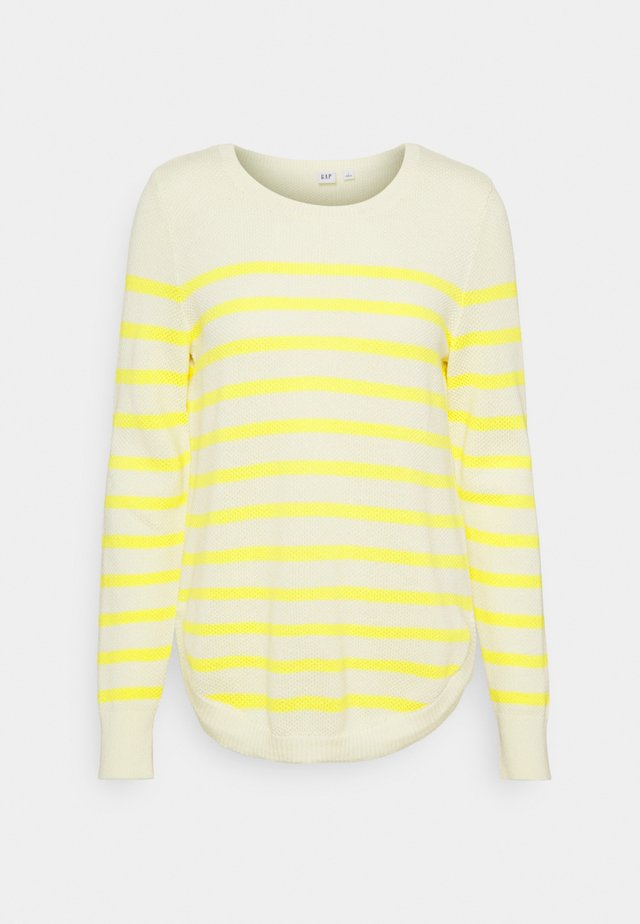 CURVE HEM CREW - Neule - yellow