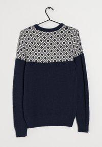 Next - Stickad tröja - blue - 1