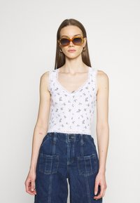 BDG Urban Outfitters - LOLA TRIM DITSY - Top - white - 0