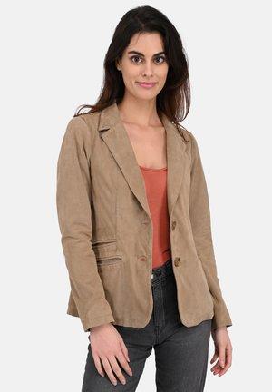SANDY - Leather jacket - beige