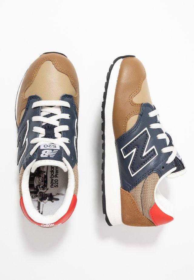 Sneakers - brown/blue