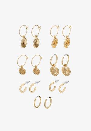 7 PACK - Earrings - gold-coloured