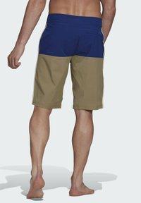 adidas Performance - Swimming shorts - mottled beige/ light blue - 2