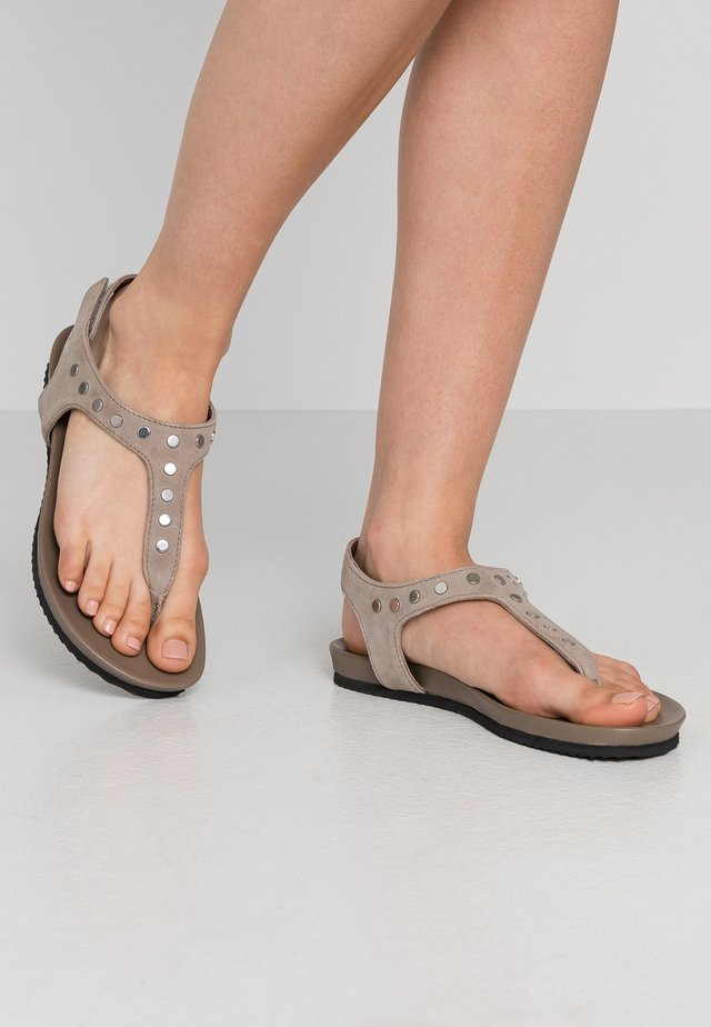 CARIBE - T-bar sandals - taupe