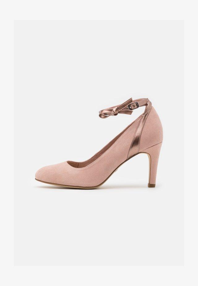 Klassiske pumps - rose metallic