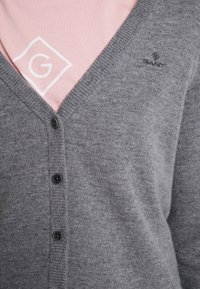 GANT - SUPERFINE - Cardigan - dark grey melange - 4