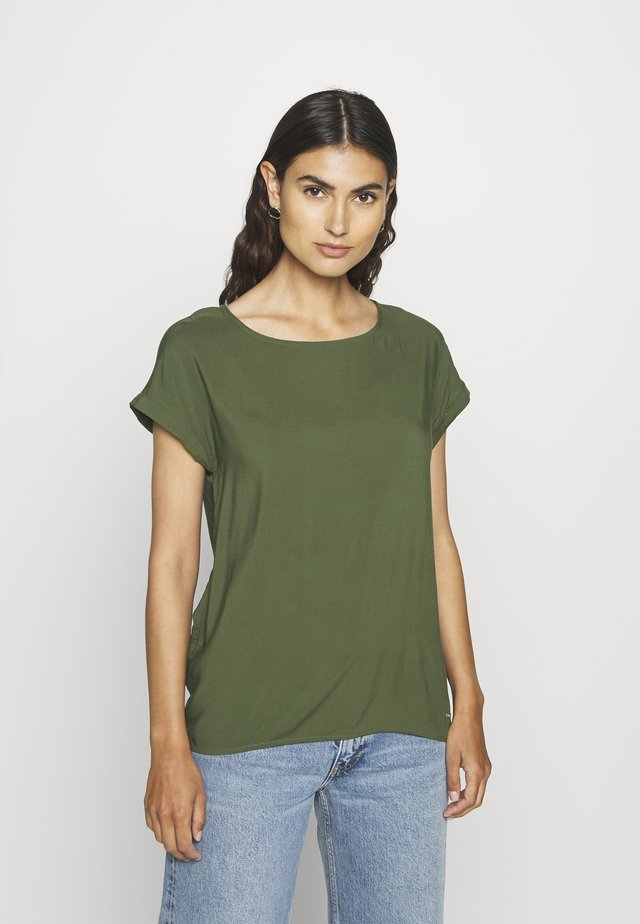 WITH BACK DETAIL - Bluse - dusty rifle green