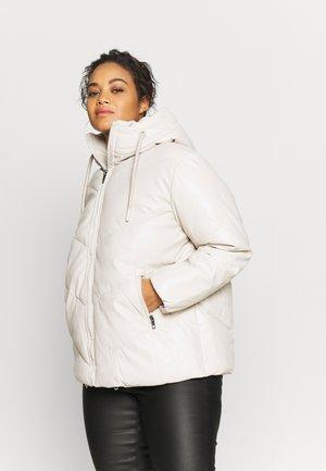 Faux leather jacket - ecru