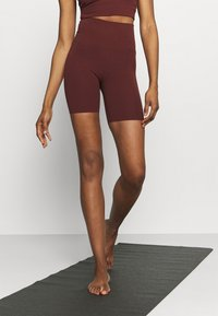 Nike Performance - YOGA LUXE SHORT - Leggings - bronze eclipse/smokey mauve - 0