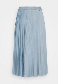 PLISSEE SKIRT - Pleated skirt - smoked blue