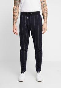 Topman - PINSTRIPE TRACK  - Pantaloni sportivi - dark blue - 0