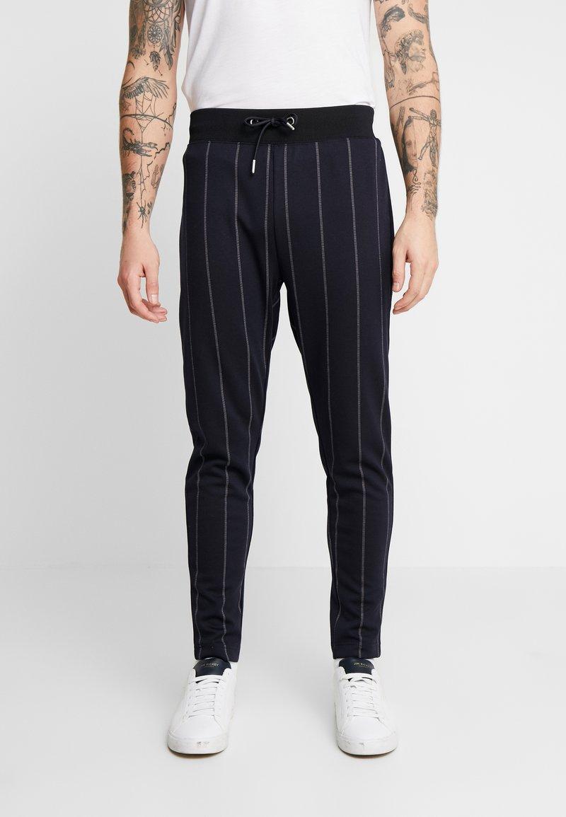 Topman - PINSTRIPE TRACK  - Pantaloni sportivi - dark blue