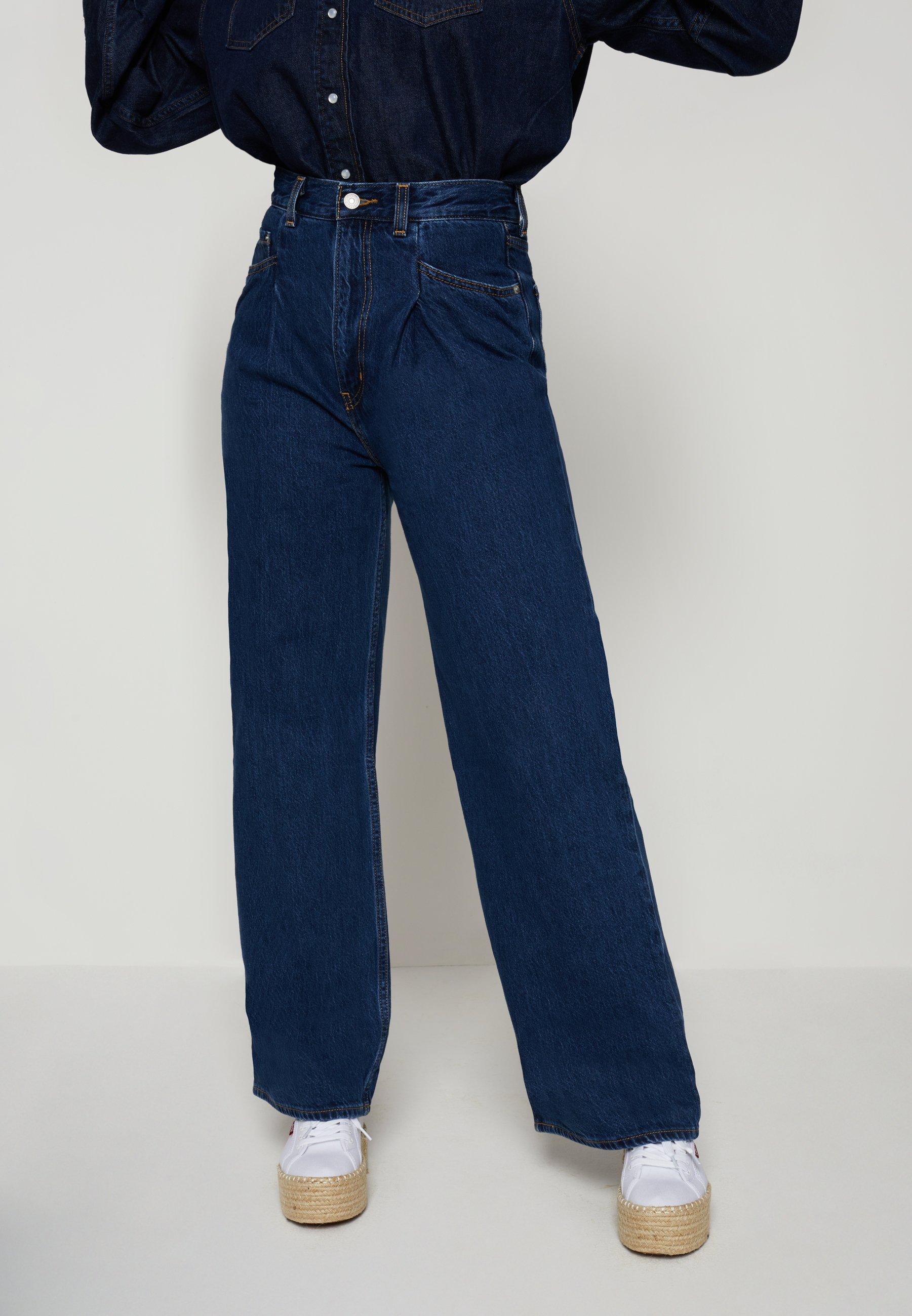 Women TAILORED HIGH LOOSE - Straight leg jeans