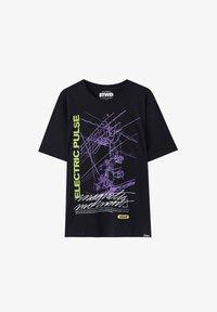 PULL&BEAR - T-shirt print - black - 4