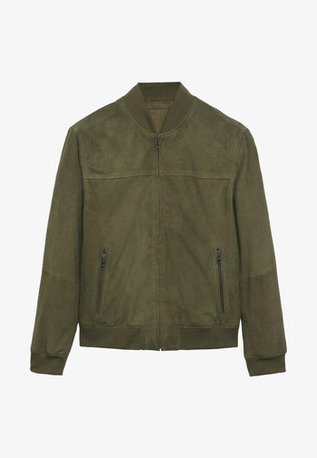 GRUS-I - Leather jacket - vert