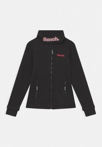 HAYLO - Sweater met rits - black