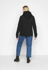 Calvin Klein Jeans Plus - GLITTER MONOGRAM HOODIE - Felpa con cappuccio - black - 2