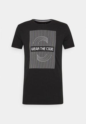 EASON - T-shirt z nadrukiem - black