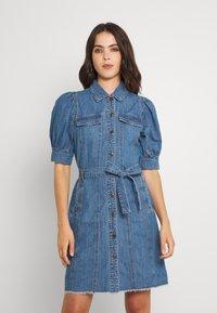 ONLY - ONLGERDA BELT DRESS - Dongerikjole - dark blue denim - 0