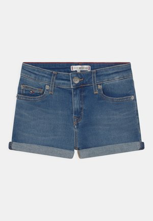 NORA BASIC - Denim shorts - summermedblue