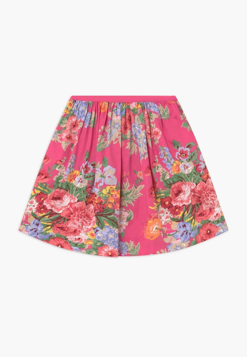 Polo Ralph Lauren - FLORAL BOTTOMS - Áčková sukně - pink/multi-coloured