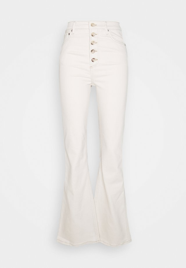 THE RICKY HIGH RISE FLARE LEG - Pantalones - natural