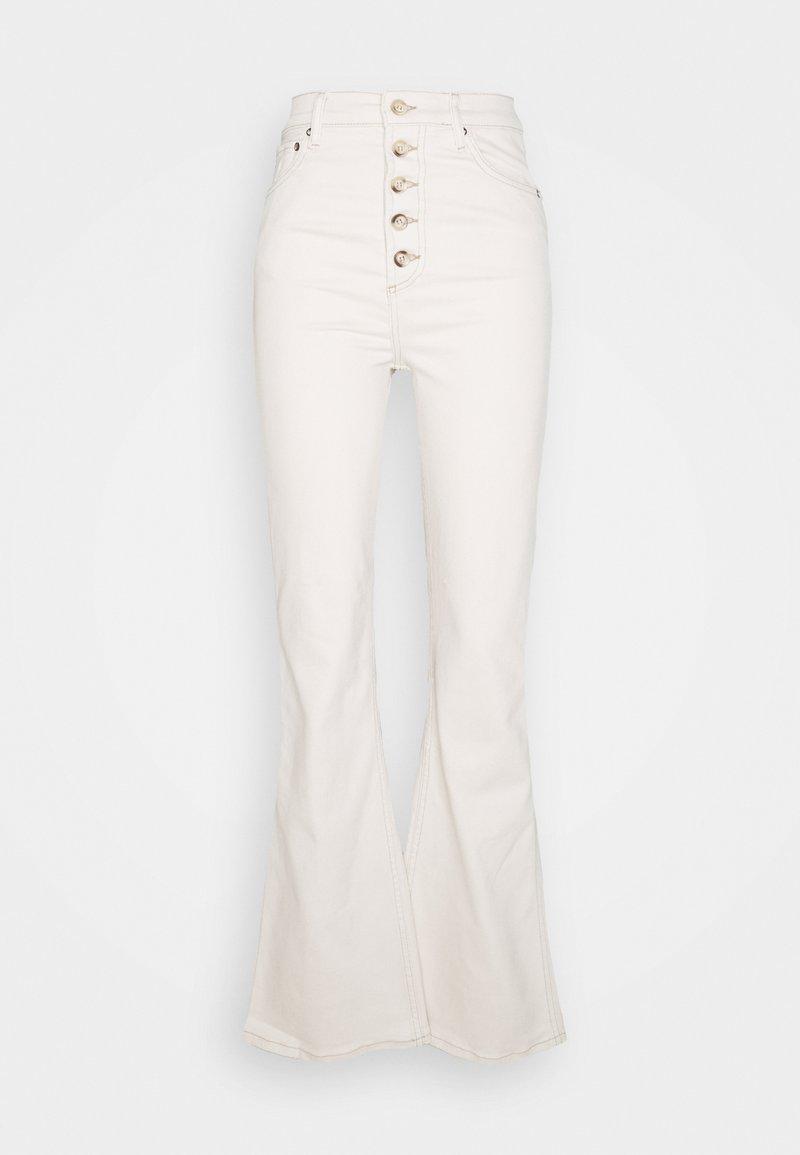 Boyish - THE RICKY HIGH RISE FLARE LEG - Kalhoty - natural