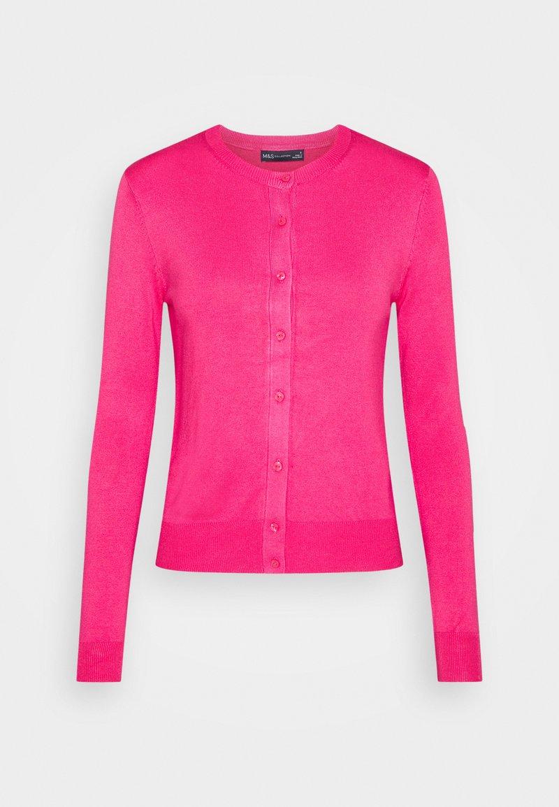 Marks & Spencer London - CREW CARDI PLAIN - Cardigan - medium pink