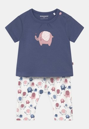 SET - Print T-shirt - dark blue/light pink