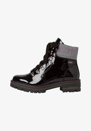 STIEFELETTE - Cowboy/biker ankle boot - black patent