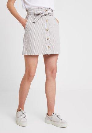 BELTED UTILITY - Áčková sukně - grey