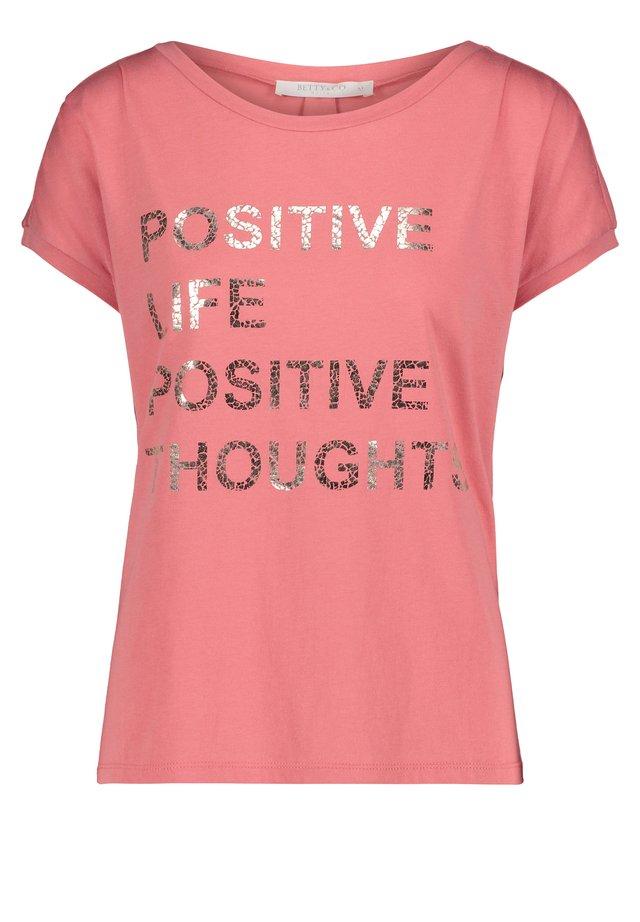 Print T-shirt - summer rose