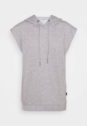 NMNERO HOODIE - Print T-shirt - light grey melange