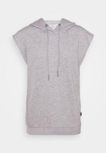 NMNERO HOODIE - Print T-shirt - light grey melange