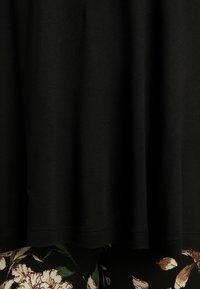Kaffe Curve - KCANELI U NECK - T-shirt basique - black deep - 5
