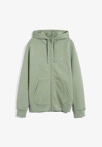 Zip-up sweatshirt - misty grass