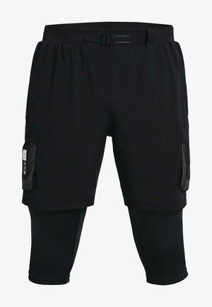 RUN ANYWHERE 2 IN 1 SHORT - Leggings - black